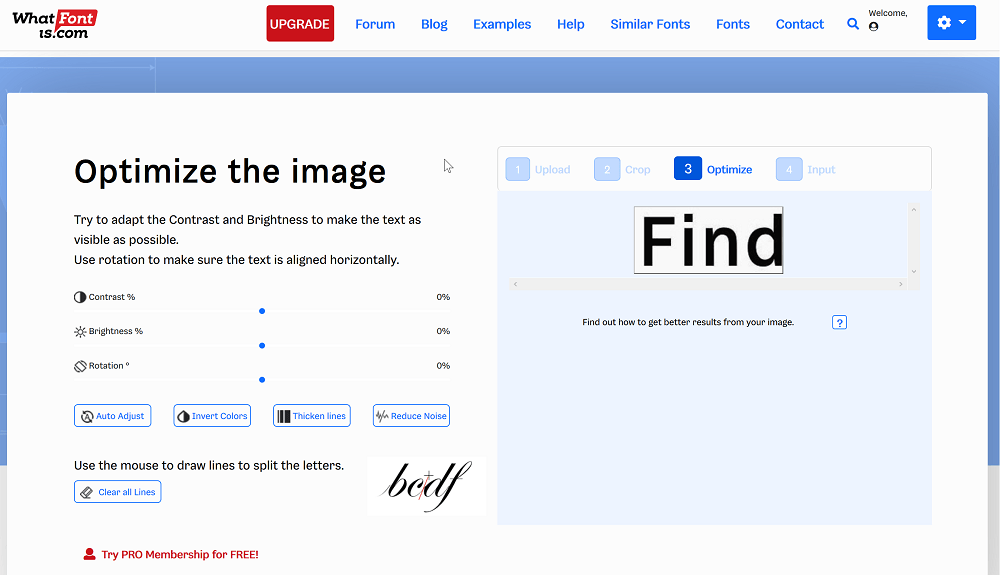 What Font Is optmieren der Bildeinstellungen